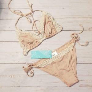 H&M Lace top Tie Tanga 2 pc Bikini